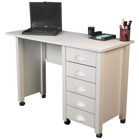 Mobile Computer Desks by Venture Horizon Mobile Wood Computer Desk In White 1017 11wh