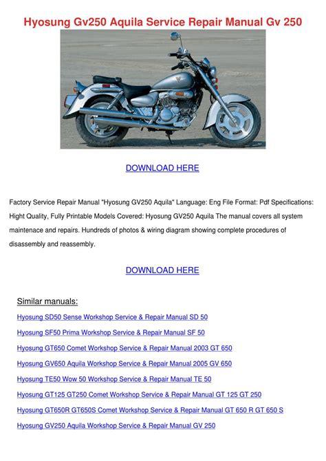 Hyosung Gv250 Aquila Service Repair Manual Gv By Karre