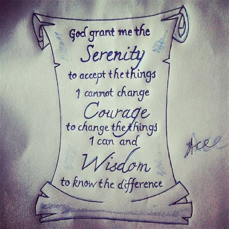 custom serenity prayer drawin tattoo design im finna