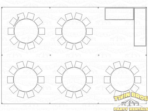 table placement template 20x30 pole tent layouts pictures diagrams rentals