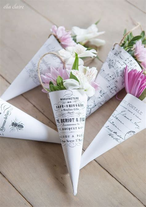 50 Best Free Printables For Craft Projects Flower Cone Template