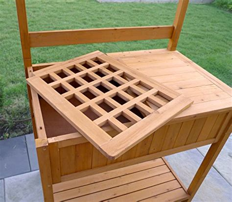 merry garden potting bench merry garden potting bench with recessed storage farm