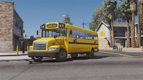 mod gta 5 bus caisson elementary c school bus add on replace wipers