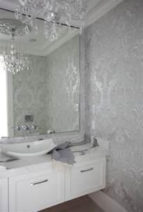 Wallpaper Designs For Bathrooms - metallic wallpaper bathroom 2017 grasscloth wallpaper