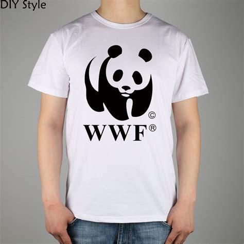 Wwf White Shirt Quality Distro wwf panda wildlife conservation t shirt cotton lycra top 5002 fashion brand t shirt new diy