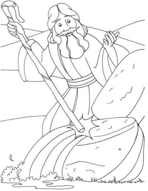 printable coloring pages exodus moses coloring pages moses drawings