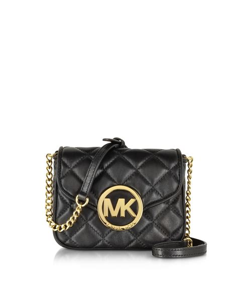 Quilted Crossbody Bags by Michael Kors Small Fulton Quilted Crossbody Bag In Black