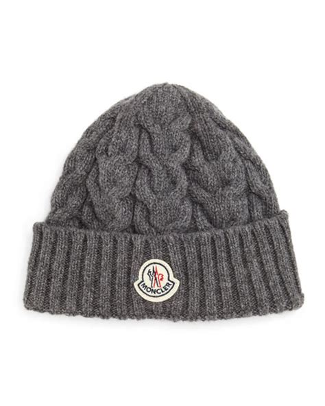 cable knit hat moncler cable knit hat gray