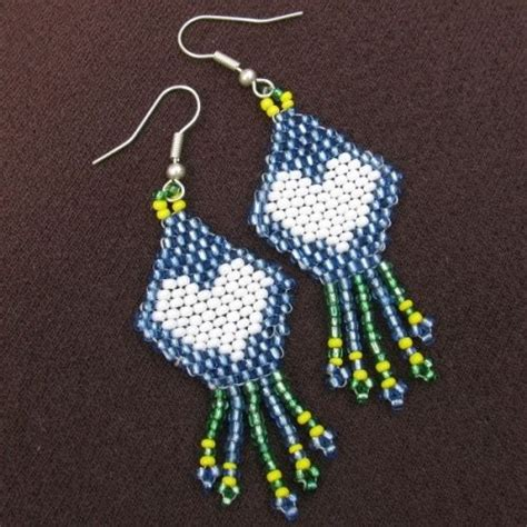 1000 images about beaded earrings on seed