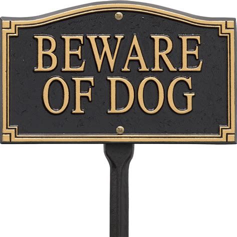 beware of beware of yard sign in specialty plaques