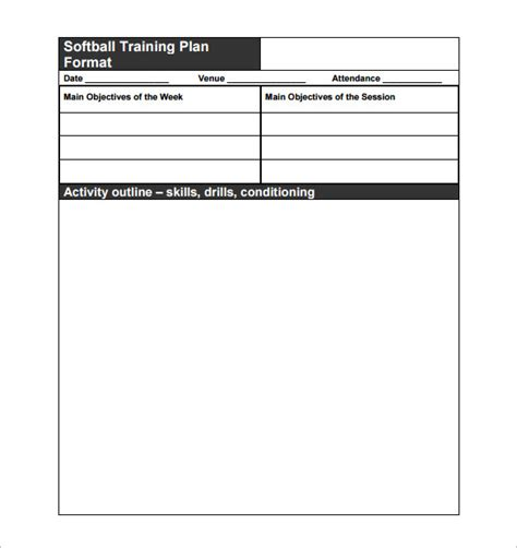 Practice Schedule Templates 12 Free Sle Exle Format Download Free Premium Templates Blank Practice Plan Template