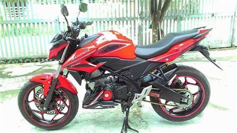 Belakang All New Cb 150r penakan honda all new cb150r pakai velg lebar axio 3 4 5 inchi dan arm rd racing