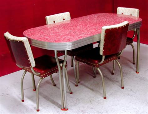 1950 retro dining table and chairs chrome and formica dining sets 1950 s ca 1950s dining