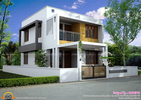 3 bedroom modern flat roof house layout kerala home design floor plan of modern 3 bedroom house kerala home design and floor plans
