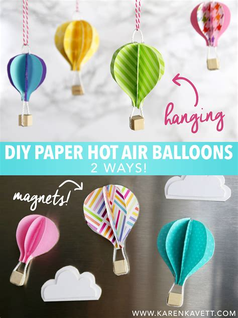 How To Make An Air Balloon Out Of Paper - diy paper air balloons kavett