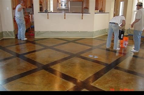 prepping to stain concrete in the kitchen concrete stain colors design ideas modern style acid