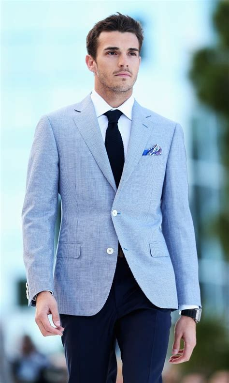 Blue Blazer jules bianchi in lounge fashion in monaco light