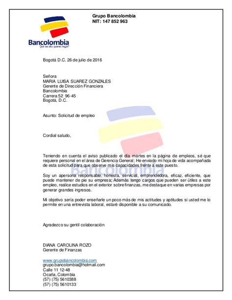 solicitar certificacion bancaria en bancolombia carta de presentacion