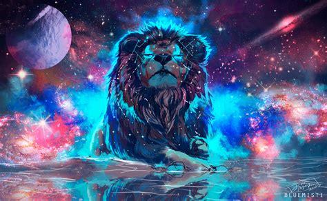 colorful lion wallpaper hd lion artistic colorful hd 4k wallpaper