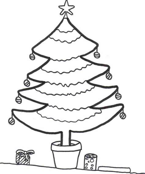 printable xmas tree coloring sheet