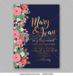 Wedding Invitation Template Stock Images, Royalty Free