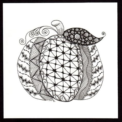 zentangle pumpkin printable zentangle pumpkins and tangled on pinterest