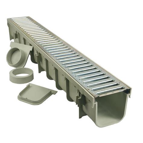 nds 3 in plastic channel drain kit nds 5 inch channel drain kit with metal grate box of 3