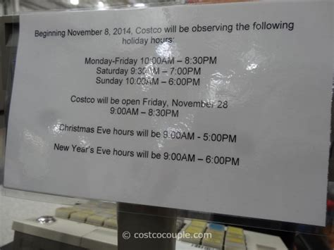 costco hours new years day costco 2014 hours