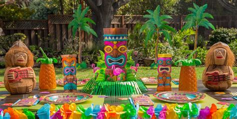 hawaiian themed decorations ideas luau decorations city