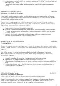 Bar Manager Resume Exles by Sle Bar Manager Resume Ideas On Writing Your Own