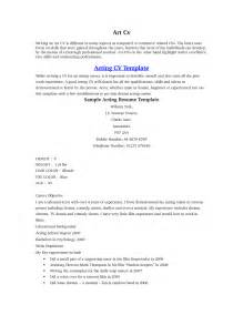 acting resume sles how to make an acting resume for beginners 28 images
