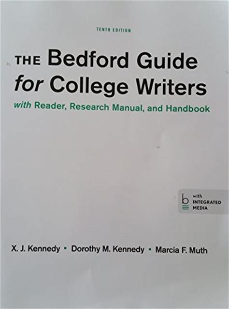 the reader your shoulder a handbook for writers of prose books read the bedford guide for college writers with reader