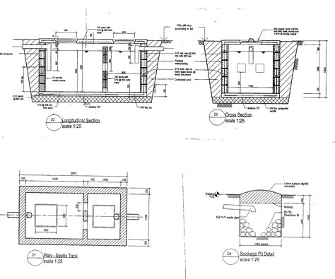 tank section septic tank design plan and section www pixshark com