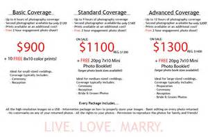 Photography Packages Wedding Photography Packages 14 Wedding Checklist