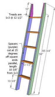 Bunk Bed Ladder Plans White How To Build A Loft Bed Diy Projects