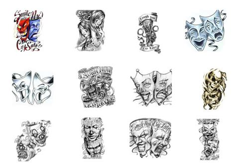 comedy tragedy tattoo designs theatre mask tattoos designs symbols comedy tragedy