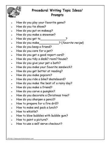 themes for process essay a list of procedural writing prompts ela pinterest