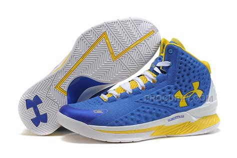 basketball shoes 80 dollars armour ua curry one 2015 warrior blue yellow