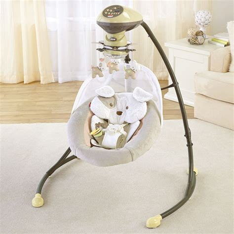 plug in baby swing my little snugapuppy cradle n swing