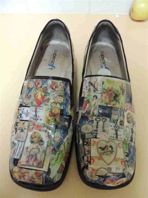 Shoe Decoupage - 17 best ideas about decoupage shoes on diy