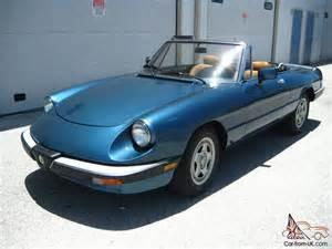 1988 Alfa Romeo Spider 1988 Alfa Romeo Spider Veloce No Reserve