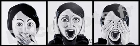 design visage tableau d 233 co triptyque design femme noir et blanc quot les