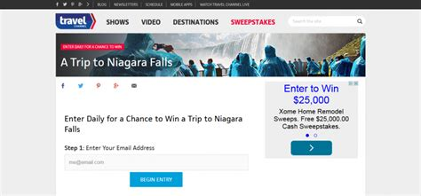 Sweepstakes Trip - travel channel july 2015 sweepstakes