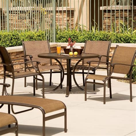 Sorrento Patio Furniture sorrento sling patio dining by tropitone free shipping