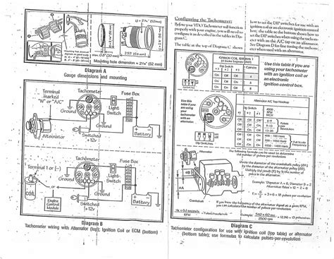 car tachometer wiring diagram get free image about