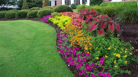 Cheap Flower Garden Ideas Colorful Flower Beds Improve Your Home S Curb Appeal Garden Trends