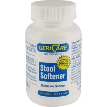 Generic Stool Softener by Docusate Sodium Colace Generic 100mg Softgels 100 S