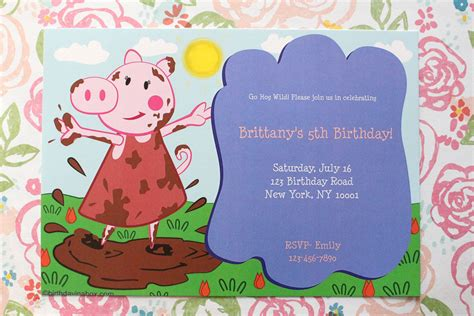 peppa pig invitation card template peppa pig birthday invitation template peppa pig