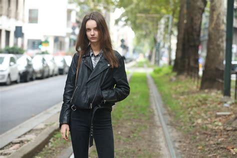 style staple the leather jacket style milan fashion week 2016 milan