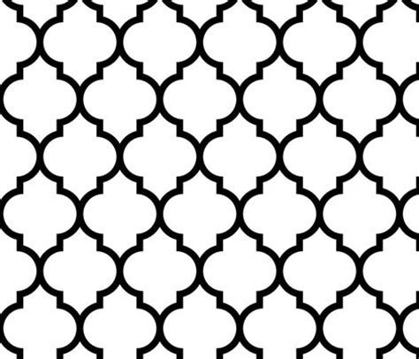black and white moroccan wallpaper quatrefoil lattices and spoonflower on pinterest